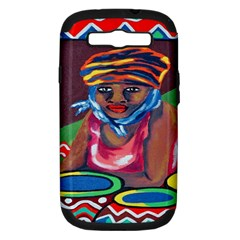 Ethnic Africa Art Work Drawing Samsung Galaxy S Iii Hardshell Case (pc+silicone)