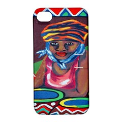 Ethnic Africa Art Work Drawing Apple Iphone 4/4s Hardshell Case With Stand