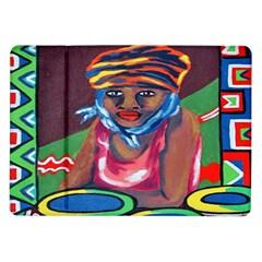 Ethnic Africa Art Work Drawing Samsung Galaxy Tab 10 1  P7500 Flip Case