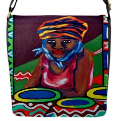 Ethnic Africa Art Work Drawing Flap Messenger Bag (s)