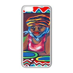 Ethnic Africa Art Work Drawing Apple Iphone 5c Seamless Case (white)