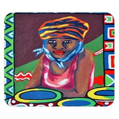 Ethnic Africa Art Work Drawing Double Sided Flano Blanket (small)