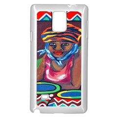Ethnic Africa Art Work Drawing Samsung Galaxy Note 4 Case (white)