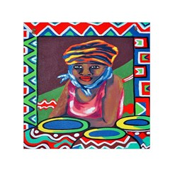 Ethnic Africa Art Work Drawing Small Satin Scarf (square)