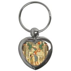 Egyptian Man Sun God Ra Amun Key Chains (heart)