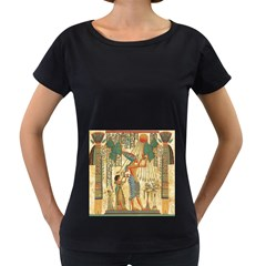Egyptian Man Sun God Ra Amun Women s Loose Fit T Shirt (black)