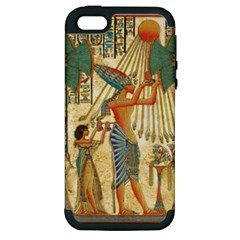 Egyptian Man Sun God Ra Amun Apple Iphone 5 Hardshell Case (pc+silicone)