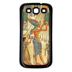 Egyptian Man Sun God Ra Amun Samsung Galaxy S3 Back Case (black)