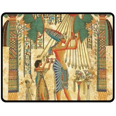 Egyptian Man Sun God Ra Amun Double Sided Fleece Blanket (medium)
