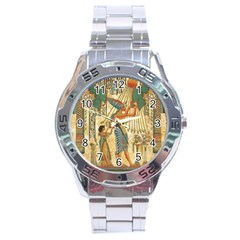Egyptian Man Sun God Ra Amun Stainless Steel Analogue Watch