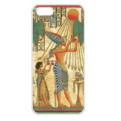 Egyptian Man Sun God Ra Amun Apple Iphone 5 Seamless Case (white)
