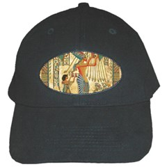 Egyptian Man Sun God Ra Amun Black Cap