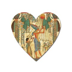 Egyptian Man Sun God Ra Amun Heart Magnet