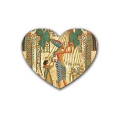 Egyptian Man Sun God Ra Amun Heart Coaster (4 Pack)