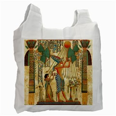 Egyptian Man Sun God Ra Amun Recycle Bag (two Side)