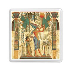 Egyptian Man Sun God Ra Amun Memory Card Reader (square)
