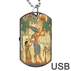Egyptian Man Sun God Ra Amun Dog Tag Usb Flash (two Sides)