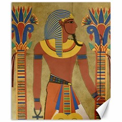 Egyptian Tutunkhamun Pharaoh Design Canvas 8  X 10