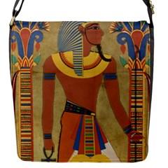 Egyptian Tutunkhamun Pharaoh Design Flap Messenger Bag (s)