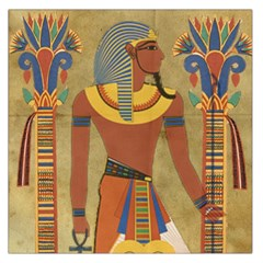 Egyptian Tutunkhamun Pharaoh Design Large Satin Scarf (square)