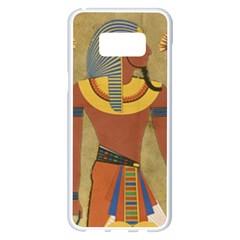 Egyptian Tutunkhamun Pharaoh Design Samsung Galaxy S8 Plus White Seamless Case