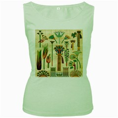 Egyptian Paper Papyrus Hieroglyphs Women s Green Tank Top