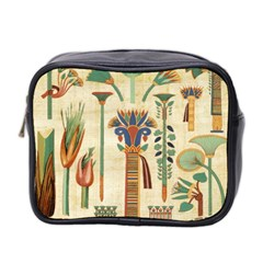 Egyptian Paper Papyrus Hieroglyphs Mini Toiletries Bag 2 Side