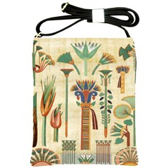 Egyptian Paper Papyrus Hieroglyphs Shoulder Sling Bags