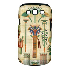 Egyptian Paper Papyrus Hieroglyphs Samsung Galaxy S Iii Classic Hardshell Case (pc+silicone)