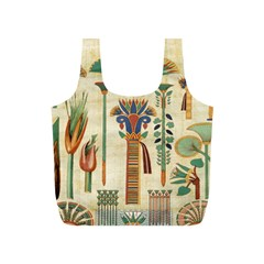 Egyptian Paper Papyrus Hieroglyphs Full Print Recycle Bags (s)