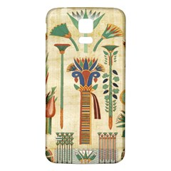 Egyptian Paper Papyrus Hieroglyphs Samsung Galaxy S5 Back Case (white)