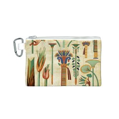 Egyptian Paper Papyrus Hieroglyphs Canvas Cosmetic Bag (s)