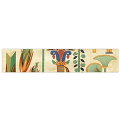 Egyptian Paper Papyrus Hieroglyphs Small Flano Scarf
