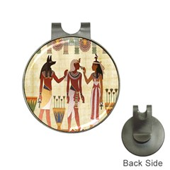 Egyptian Design Man Woman Priest Hat Clips With Golf Markers