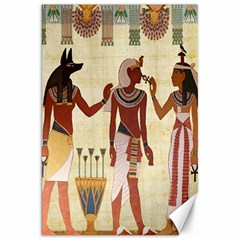 Egyptian Design Man Woman Priest Canvas 20  X 30