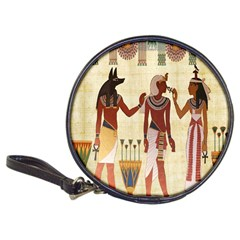 Egyptian Design Man Woman Priest Classic 20 Cd Wallets