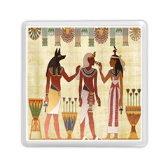Egyptian Design Man Woman Priest Memory Card Reader (square)