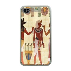Egyptian Design Man Woman Priest Apple Iphone 4 Case (clear)
