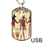 Egyptian Design Man Woman Priest Dog Tag USB Flash (One Side) Front