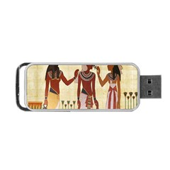Egyptian Design Man Woman Priest Portable Usb Flash (one Side)