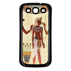 Egyptian Design Man Woman Priest Samsung Galaxy S3 Back Case (black)