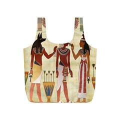Egyptian Design Man Woman Priest Full Print Recycle Bags (s)