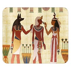 Egyptian Design Man Woman Priest Double Sided Flano Blanket (small)