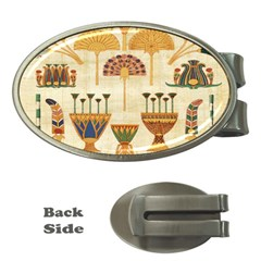 Egyptian Paper Papyrus Hieroglyphs Money Clips (oval)