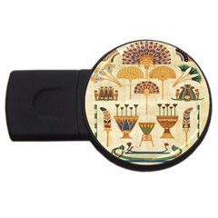 Egyptian Paper Papyrus Hieroglyphs Usb Flash Drive Round (2 Gb)