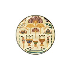 Egyptian Paper Papyrus Hieroglyphs Hat Clip Ball Marker (4 Pack)