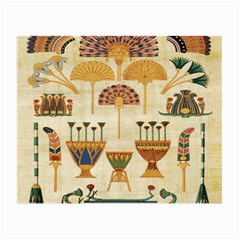 Egyptian Paper Papyrus Hieroglyphs Small Glasses Cloth