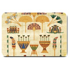 Egyptian Paper Papyrus Hieroglyphs Large Doormat