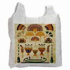 Egyptian Paper Papyrus Hieroglyphs Recycle Bag (one Side)