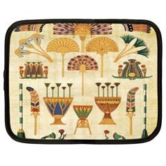 Egyptian Paper Papyrus Hieroglyphs Netbook Case (xl)